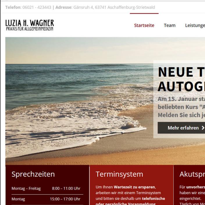 Portfolio Arztpraxis Luzia H. Wagner - Webdesign - Businessfotografie